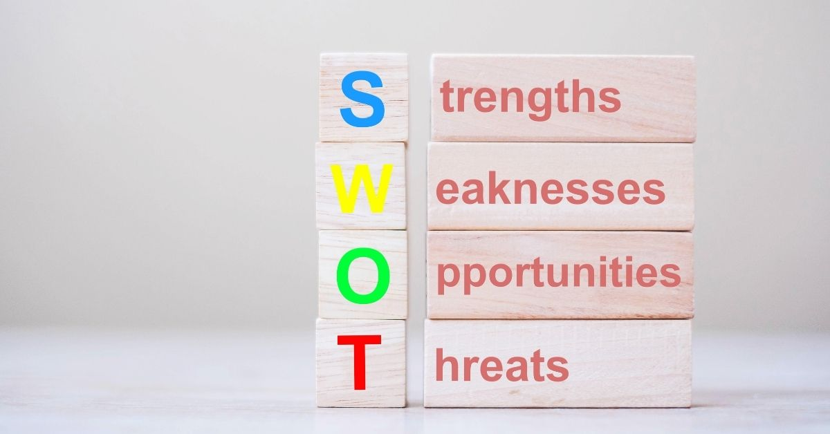SWOT analysis to spot strengths, weaknesses, opportunities and threats