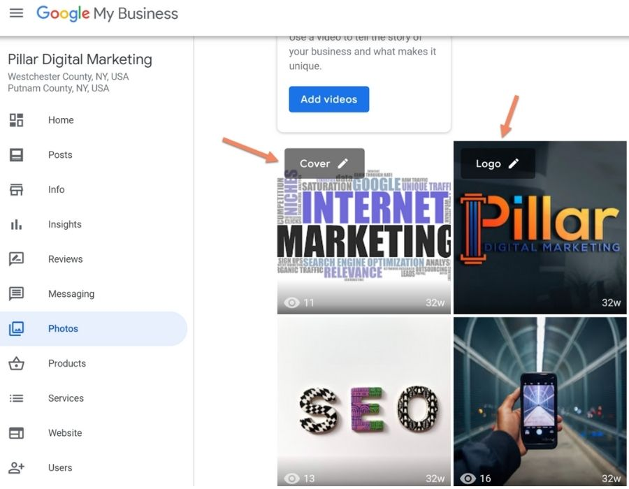 Google My Business owner dashboard