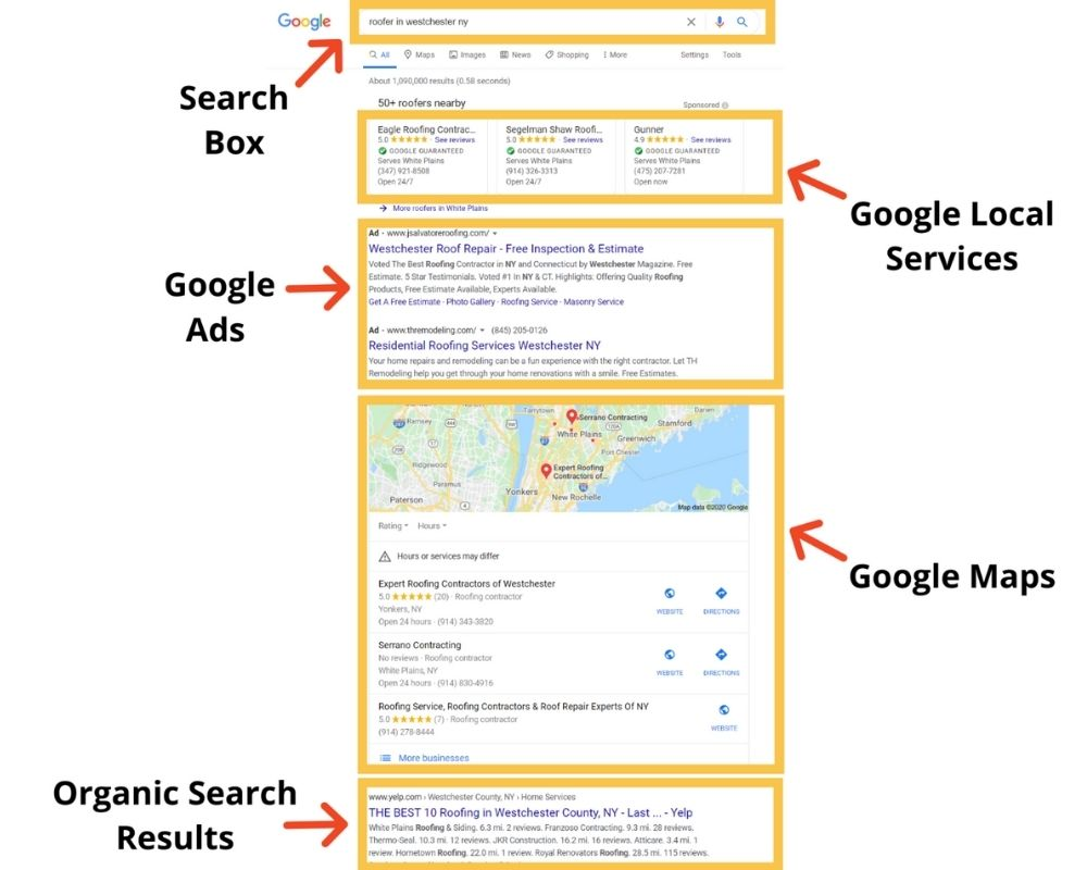 Google SERP on mobile